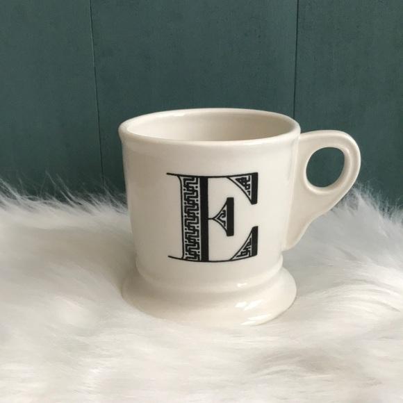 Anthropologie Other - Anthropologie initial E mug